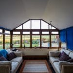 Inside a leka conservatory - check out the roof