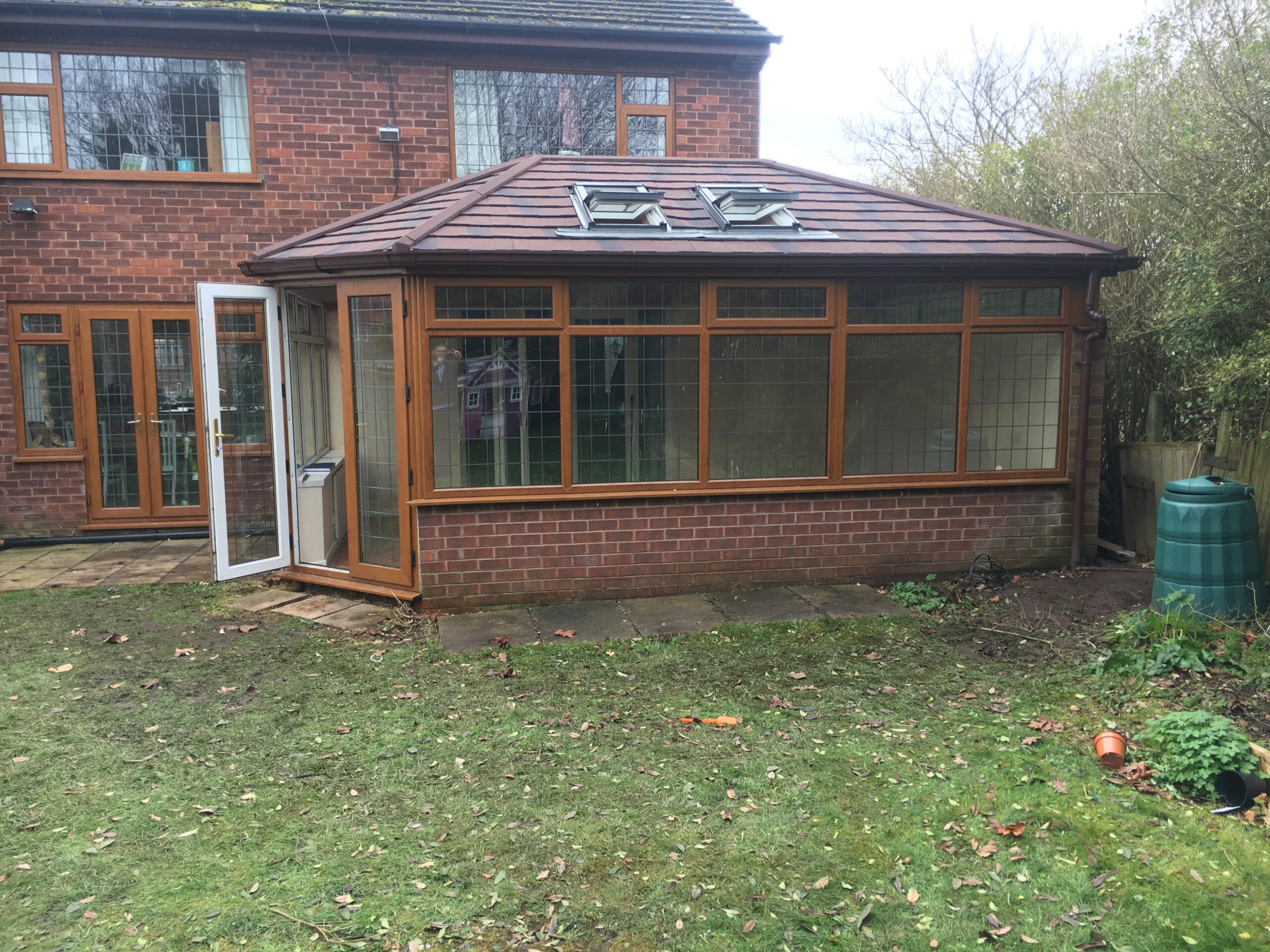 large back of house conservatory